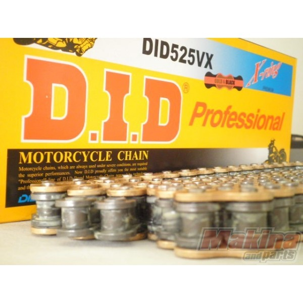 DID Drive Chain Gold X Ring 525 124 links