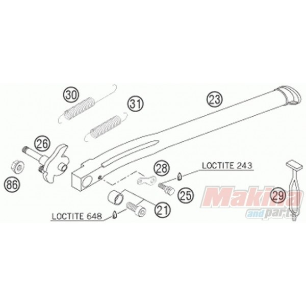 Ktm  Exc Side Stand Spring