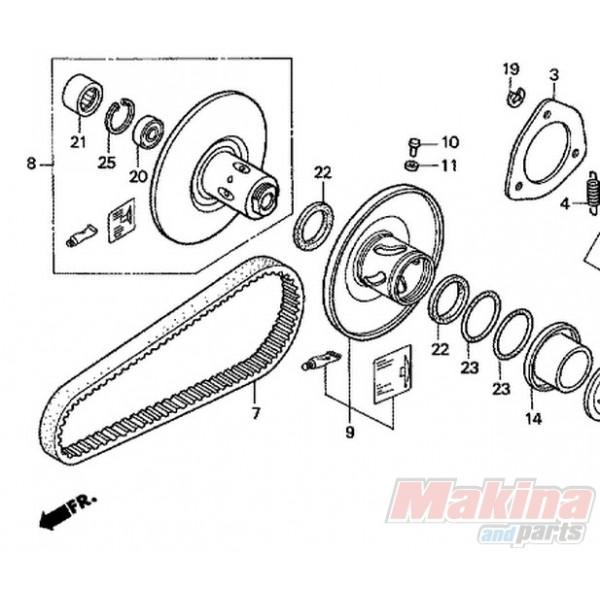 23100ktb003 Drive Belt Honda Fes 250 Foresight