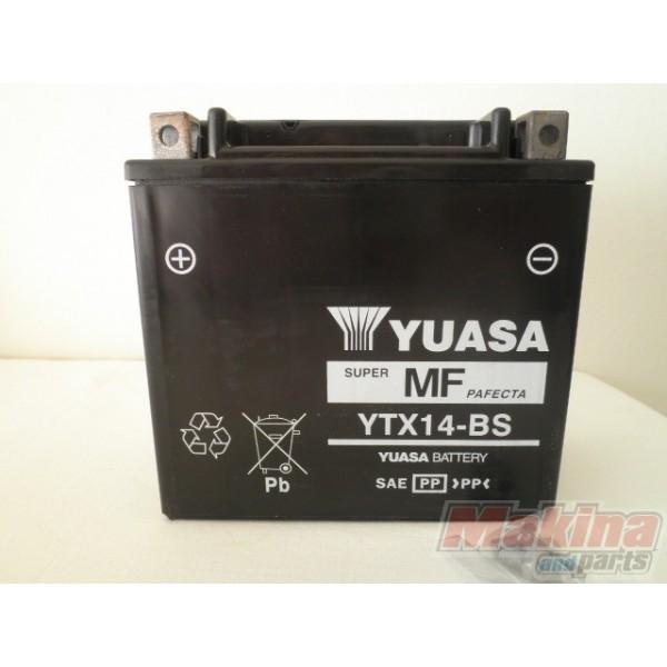 yuasa battery ytx14 bs kawasaki zzr 1400 1200 1100 zx 12r. Black Bedroom Furniture Sets. Home Design Ideas