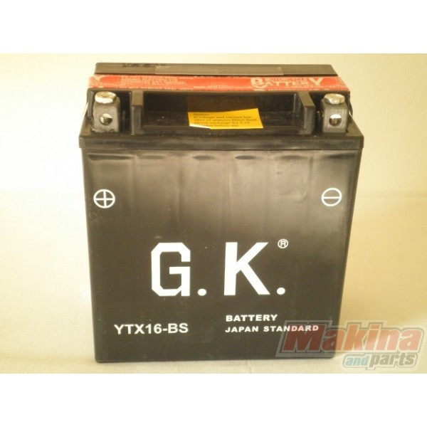 battery ytx16 bs honda xl 1000v varadero. Black Bedroom Furniture Sets. Home Design Ideas