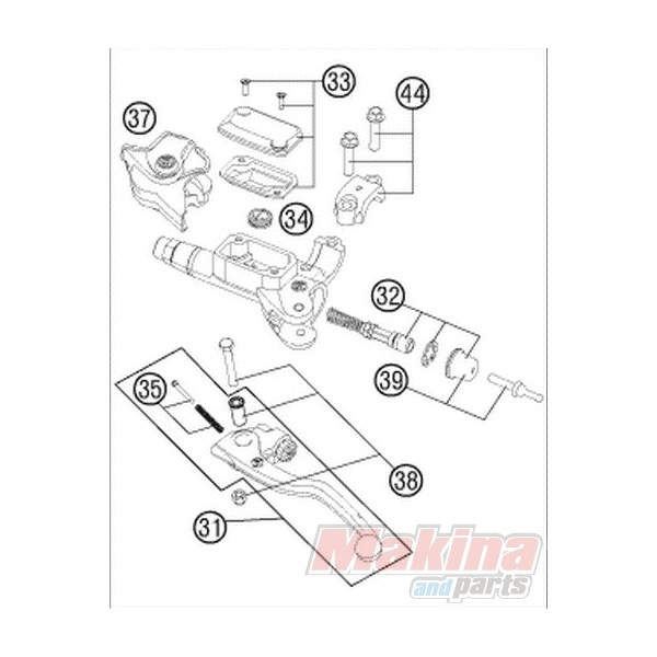 54802032000 repair kit piston brembo ktm exc  sx  sxf