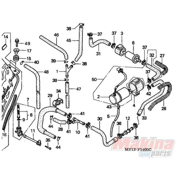 16900mg8003 Fuel Filter Honda Xrv