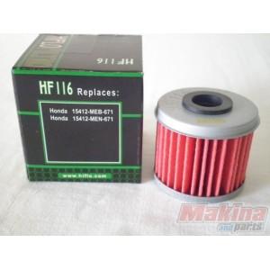 2015 Honda 450R >> HF116 Hiflofiltro Oil Filter Honda CRF-250/450 HF-116