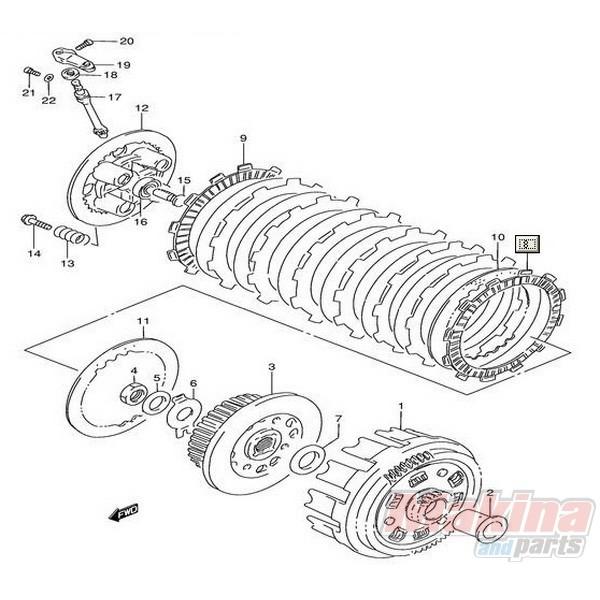 clutch drive fiber plate suzuki xf