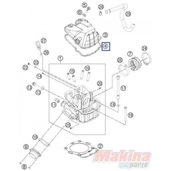 KTM 400 450 500 530 690 SX-F,XC-F SUPER DUKE XC-W VALVE COVER BOLT 78036054100