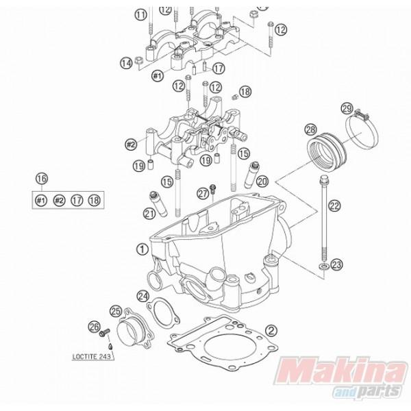 2007 Maybach 62 Head Gasket: 77030036000 Φλάντζα Εκρήξεως KTM EXC-F250 '06-'11 SX-F250
