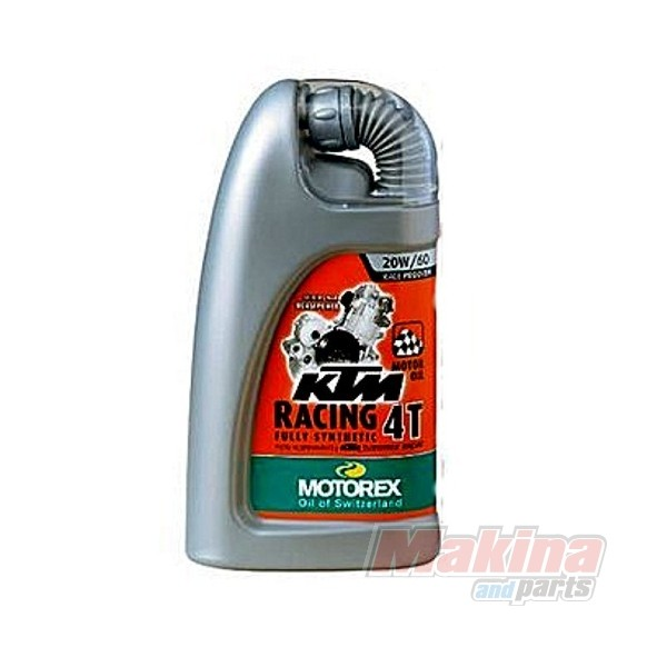 Motorex ktm racing 4t 20w 60 oil for Which motor oil is thicker