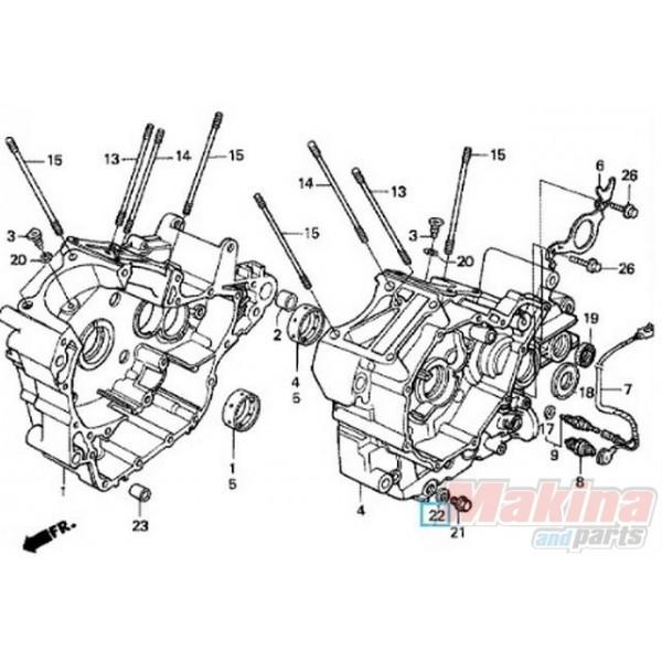 9410914000 Washer Oil Drain Plug Honda Transalp Africa Twin