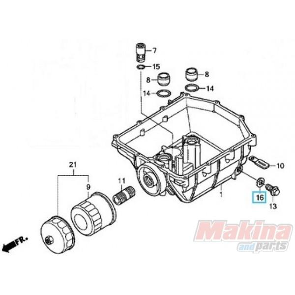 90131896650 Oil Drain Plug Honda Xl 1000v Varadero Cbr 600 1000rr
