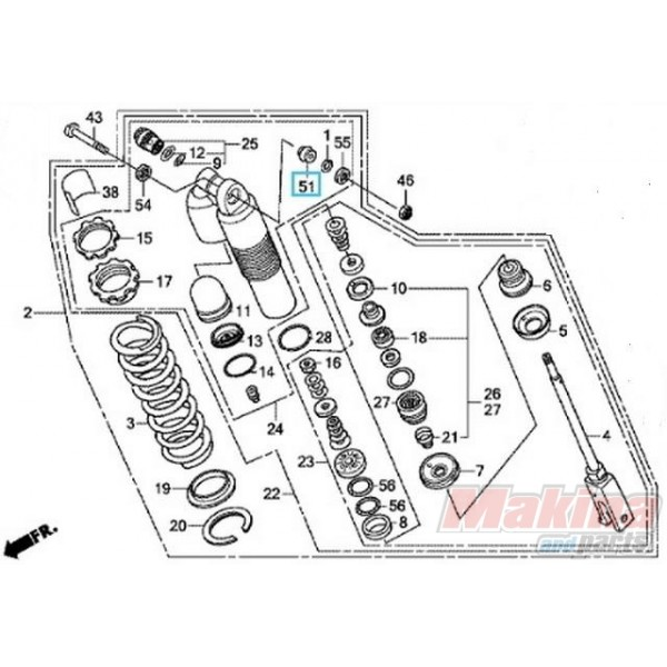 2004 honda trx450r engine diagram
