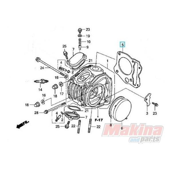 12251kph901 Cylinder Head Gasket Honda Anf