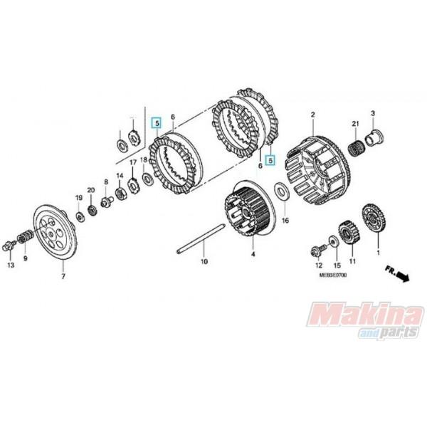 22201meb670 clutch friction disk honda crf