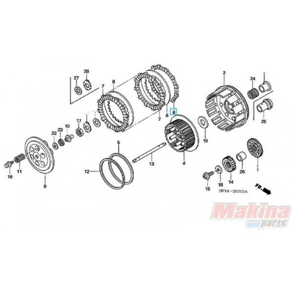 22201hp1670 clutch friction disk honda trx