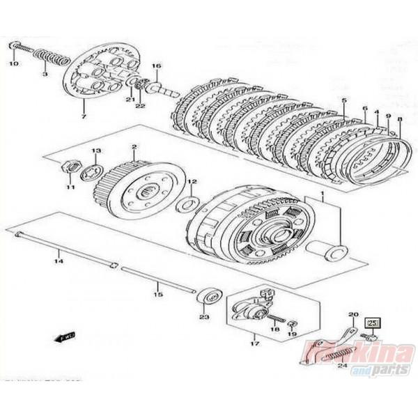 set clutch steel plate discs suzuki rmx