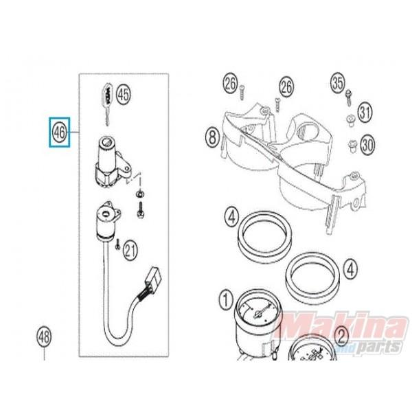 75011166000 Ignition Lock Ktm Lc4