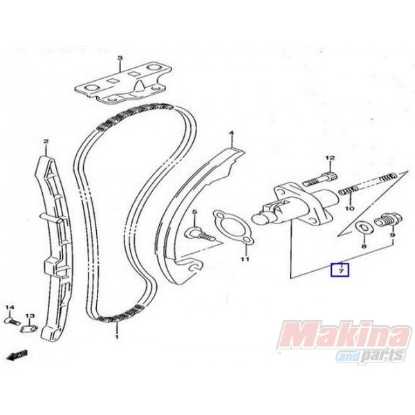 3815 1283029f10 Timing Chain Tensioner Suzuki Drz 400 03 15 on wiring diagram suzuki v strom