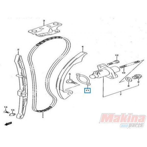 A Gasket Timing Chain Tensioner Suzuki Dl V Strom Drz Xf Gsxr Flantza Kadenas Alysidas Ekkentroforoy on Suzuki Gs 450 Wiring Diagram