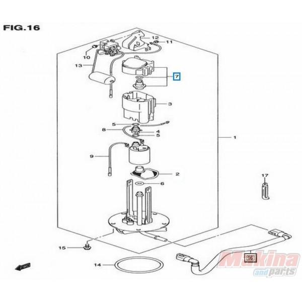 1561027g00 fuel pump regulator suzuki dl