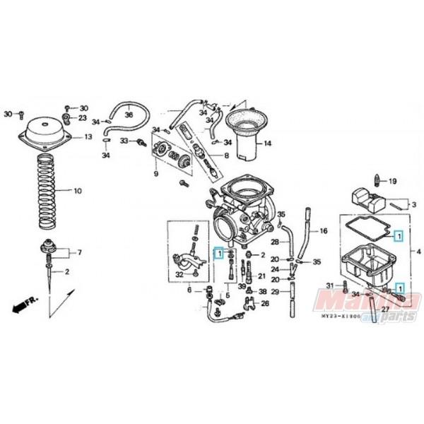 16010kpk901 gasket set carburetor honda nx