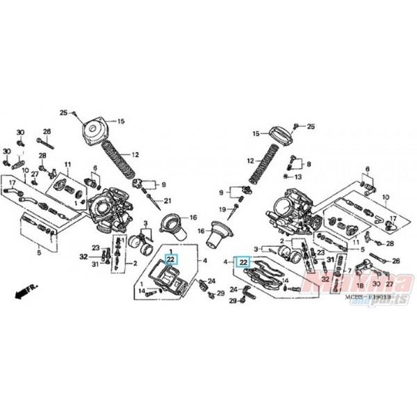 16163mah750 o u0026 39 ring carburetor honda xl
