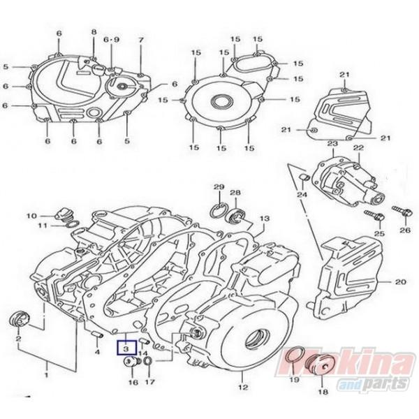 1148232e00 clutch cover gasket suzuki xf
