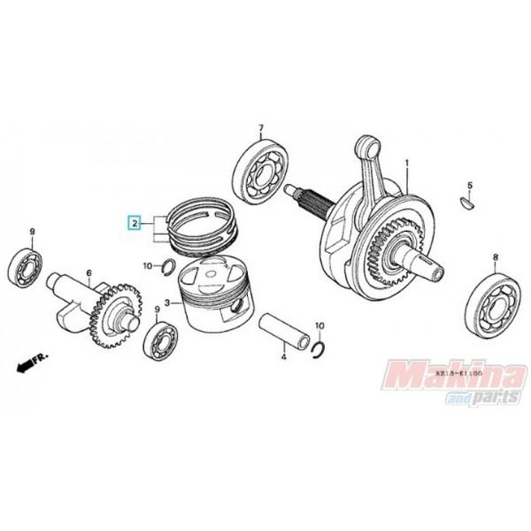 Pistons Rings Set For Honda Xr250 Xr 250 75 Motorbike: 13011KV6305 Piston Rings STD Honda XR-250 '88-'95