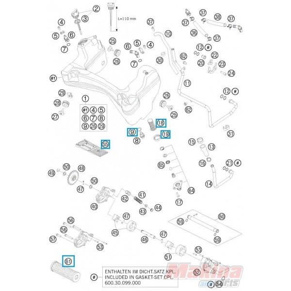 00050000065 oil filter service kit ktm lc8