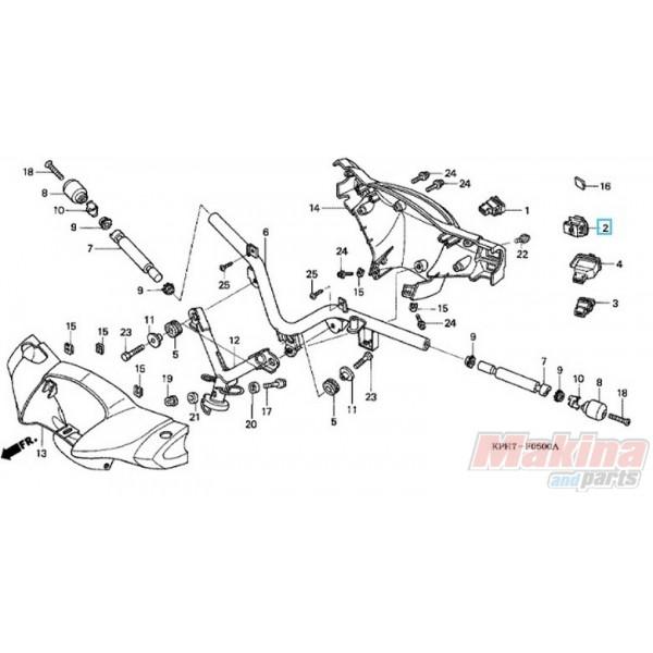 35170kph971 Switch Unit Dimmer Honda Anf
