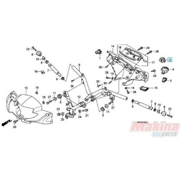 35170kph651 Switch Unit Dimmer Honda Anf