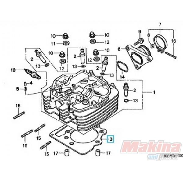 Motorcycle Engine Parts For Honda Xr400 Xr 400 1996 2004: 12251MBV013 Cylinder Head Gasket Honda XR-400