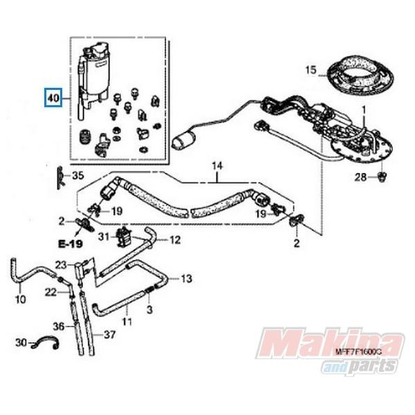 16011mffd00 Fuel Filter Honda Xl