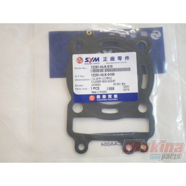 2007 Maybach 62 Head Gasket: 12251HLK010 Φλάντζα Εκρήξεως Sym Joyride-200 EFI HD-200 EFI
