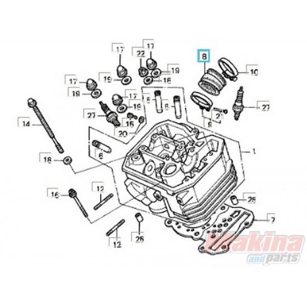 16211my1000 insulator carburetor honda xrv