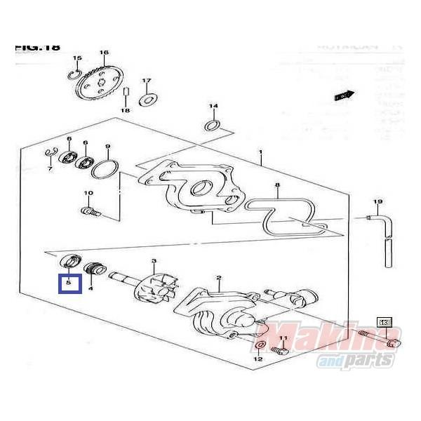 0928310004 seal  water pump suzuki dl