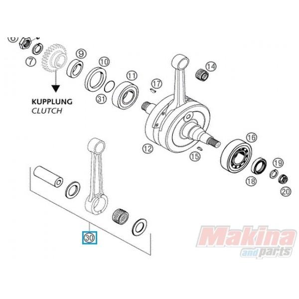 54830015244 connecting rod repair kit ktm exc 300  u0026 39 03