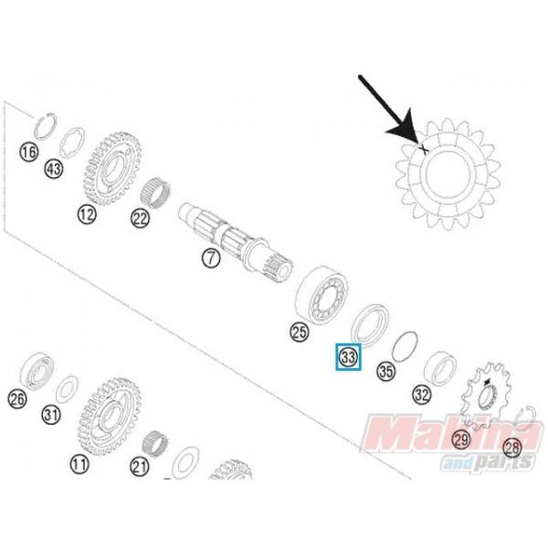 0760324571 shaft seal ring ktm exc exc