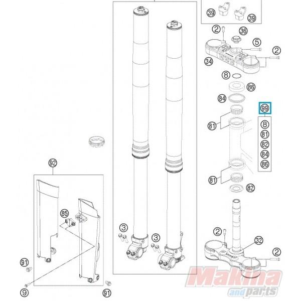 00050000930 steering head repair kit ktm exc