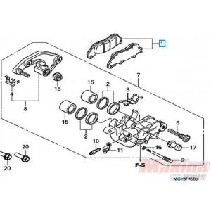 5337 06435mgy641 Rear Brake Pads Honda Crossrunner 800