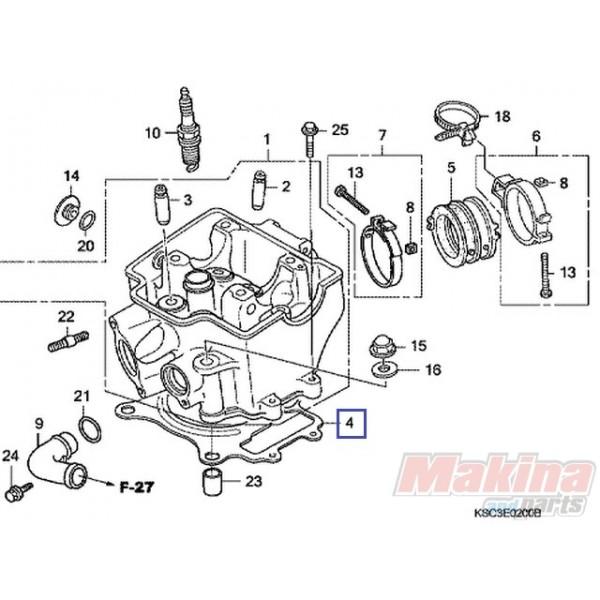 2007 Maybach 62 Head Gasket: 12251KRN731 Cylinder Head Gasket Honda CRF-250R '05-'09