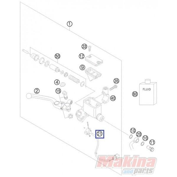 58411050000 brake light switch front ktm lc4 640 39 03 39 06. Black Bedroom Furniture Sets. Home Design Ideas