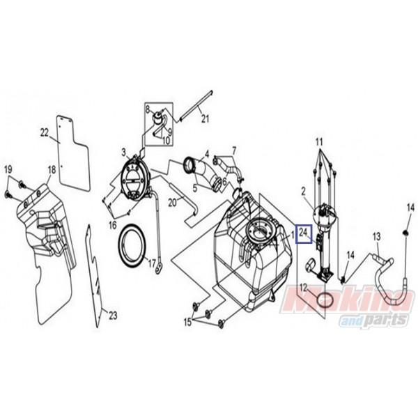 37800HWA000 Fuel Level SYM GTS-250-300 EFI