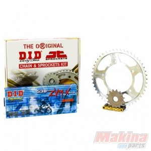 DIDZVMGCBF10001 DID ZVM X Gold Drive Chain Set Honda CBF 1000 06 10